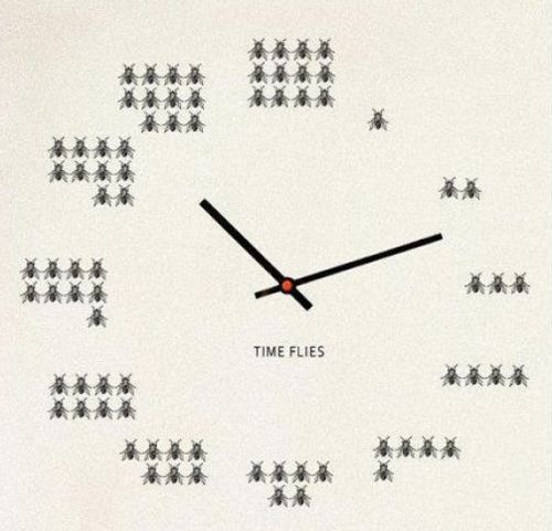 Time Flies Clock