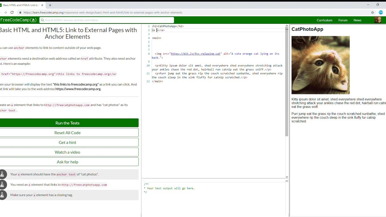10 27 Basic Html And Html5 Link To External Pages With Anchor Elements Free Web Design Html5 Basic