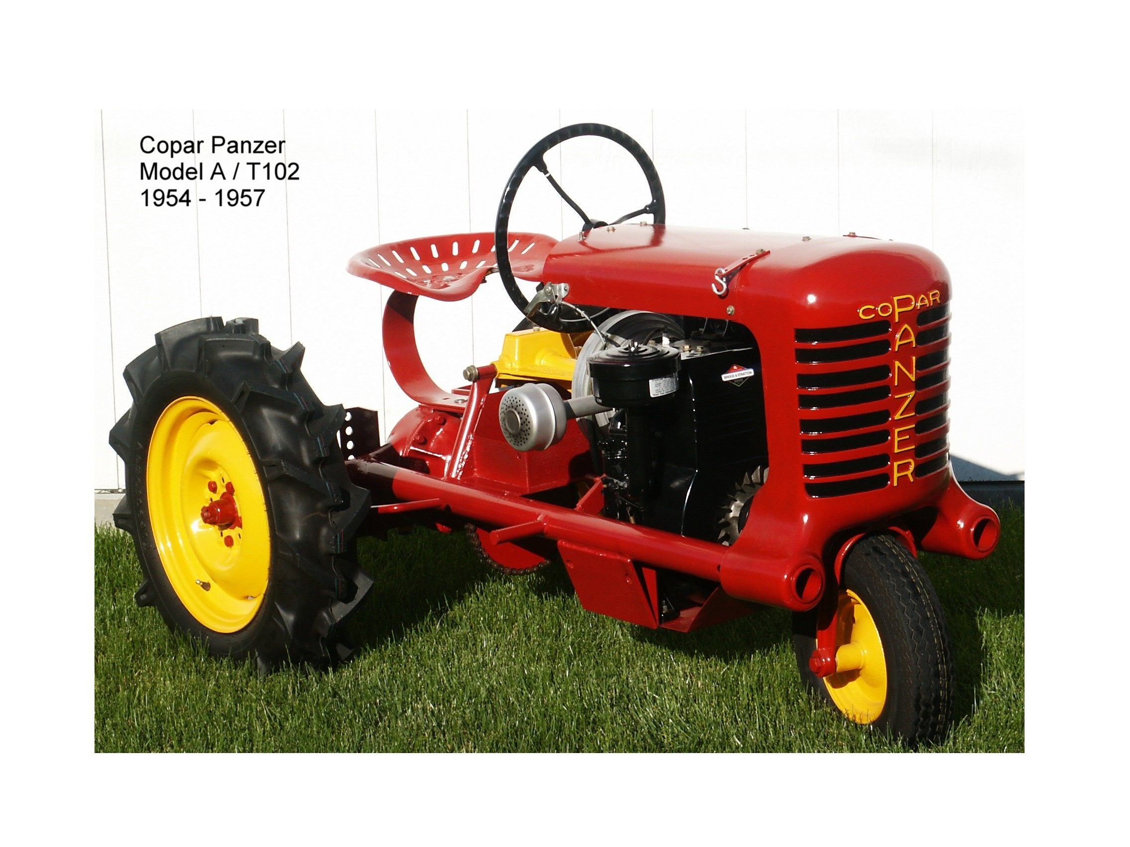 history of panzer garden tractors tractor party. Black Bedroom Furniture Sets. Home Design Ideas