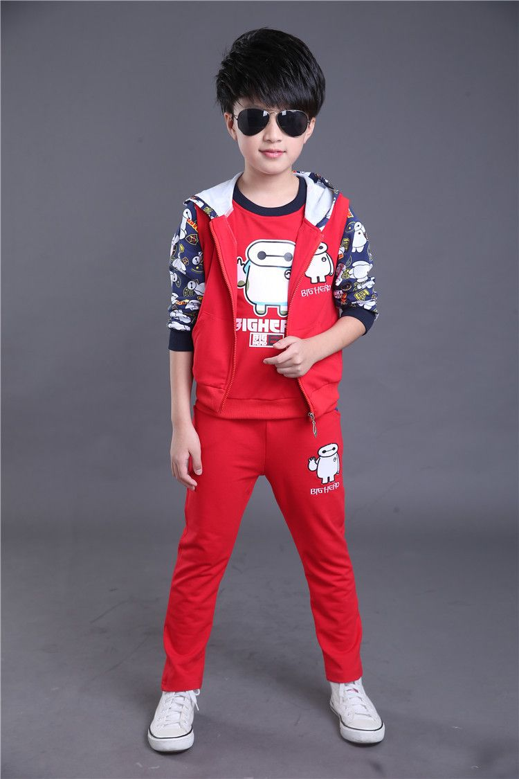 5c3af56729da Click to Buy    Children Boy Girl Clothing Set Boy Sports Suits 4-14 ...