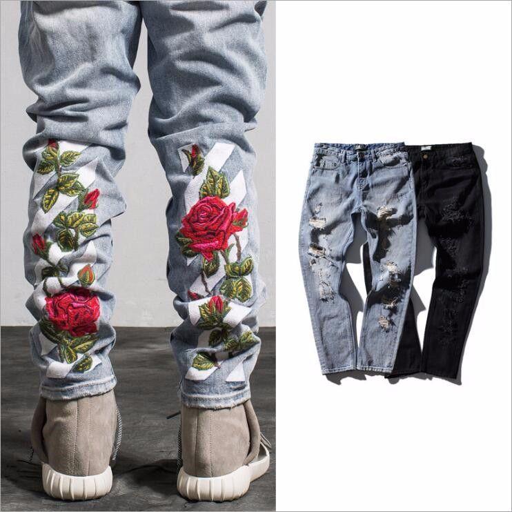 qq20161119001133  jeans männer hosen stickerei