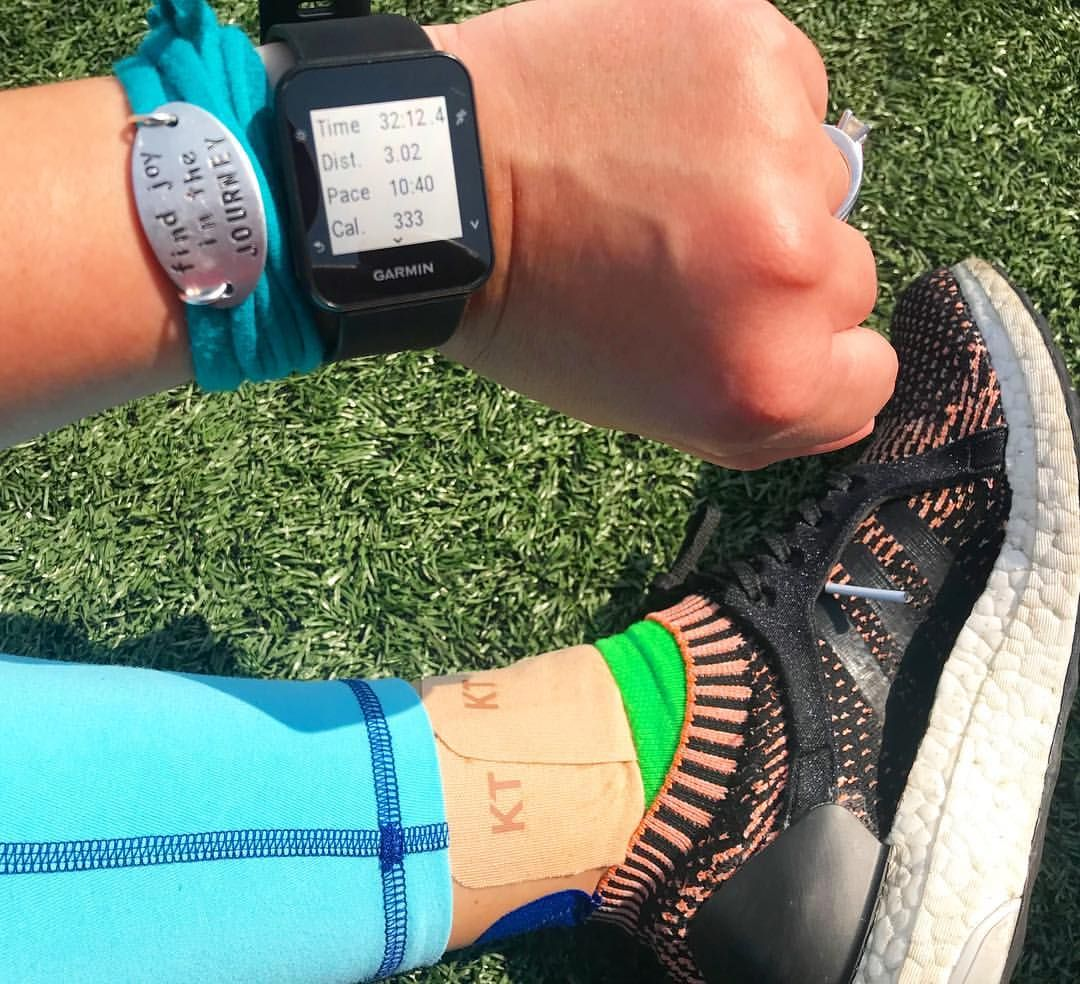 3 Miles At The Track On This Lovely Day Tried Out Gentle Kttape Today And I Think Like It Best So Far Dont Forget To Use Code