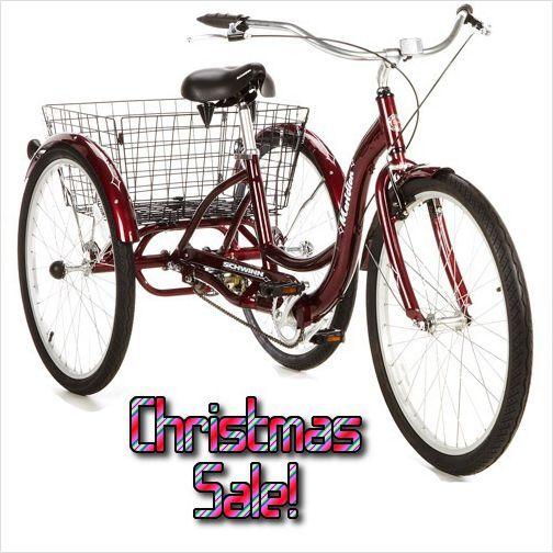 Schwinn Dark Cherry Trike 30 MPH Electric Bike Ebike With
