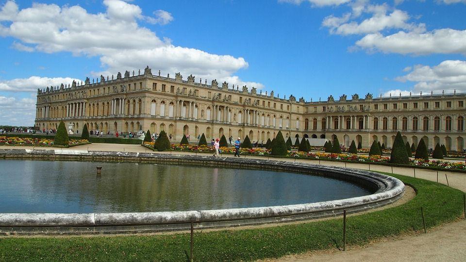 Versailles, Slot, Paris, Syn, Springvand