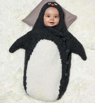 modele tricot bebe gratuit pingouin