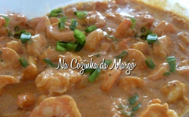 Cozinha da Margô: Estrogonofe de camarão.