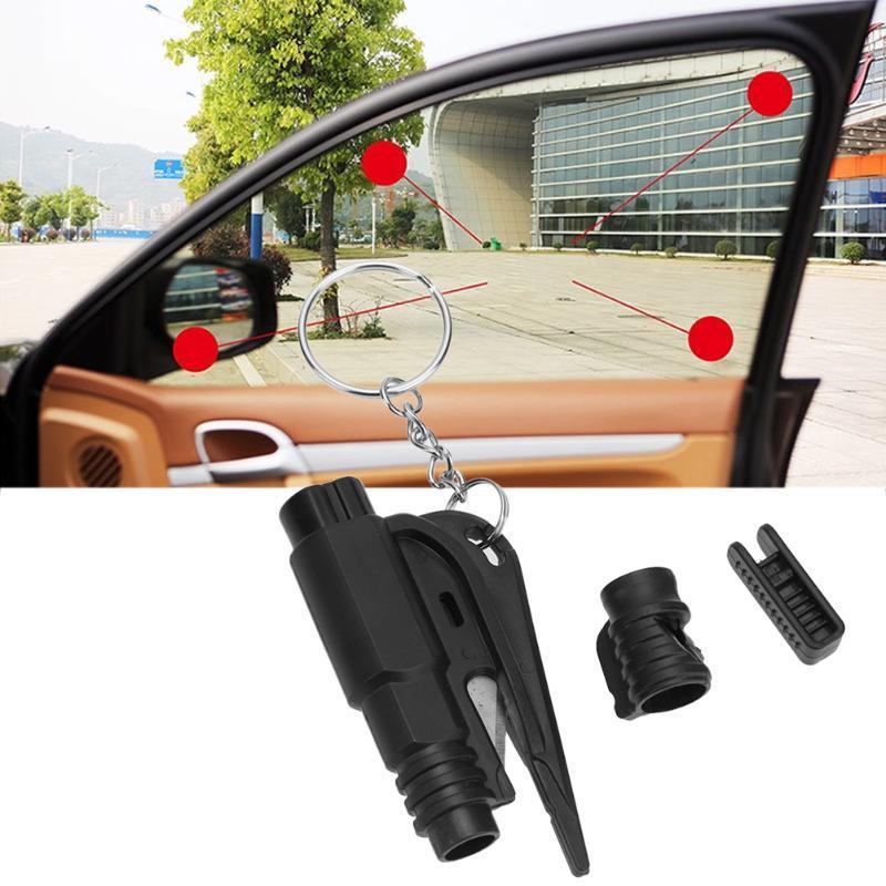 Mini Safety Hammer Seat Belt Cutter Emergency Whistles Glass Breaker