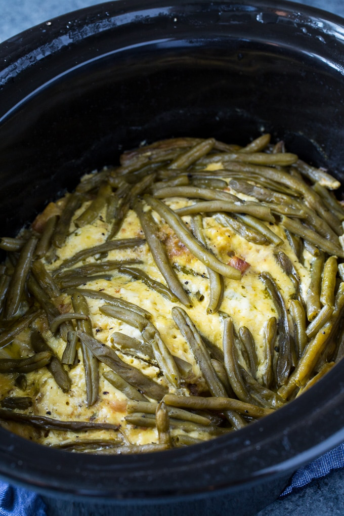 Crock Pot Chicken And Stuffing With Green Beans Recipe Stuffing Casserole Food Recipes