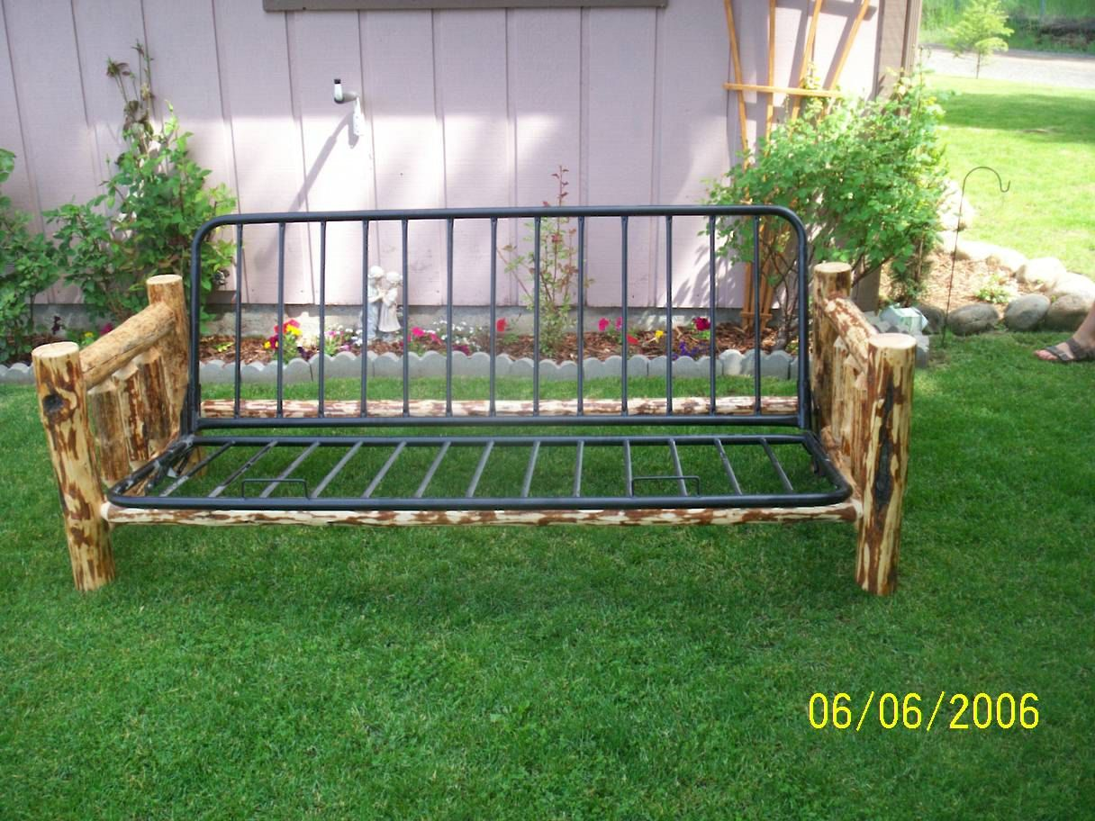 Pine Log Futon Frame | C\'s Room | Pinterest | Futon frame, Pine and Room