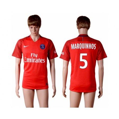 Paris Saint Germain PSG 16-17 #Marquinhos 5 Udebanesæt Kort ærmer,208,58KR,shirtshopservice@gmail.com