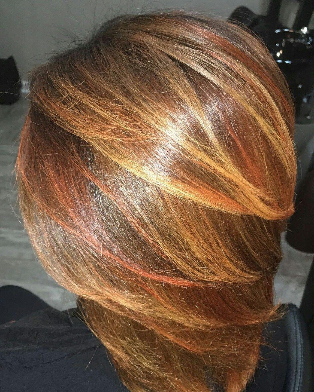 Autumnbreana with autumnjadesalon orange blonde brown hair color