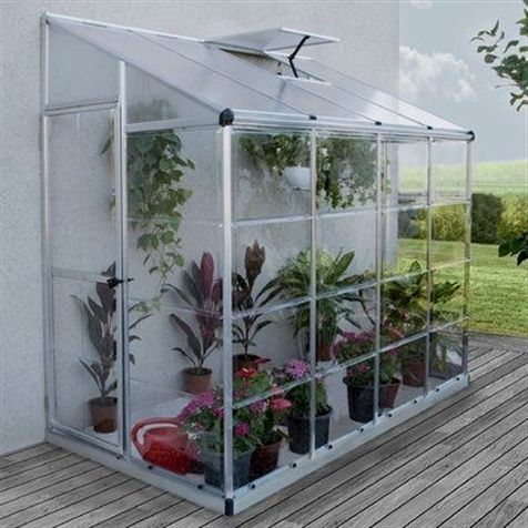 palram nature 4 ft w x 8 ft d lean to greenhouse landscaping rh pinterest com