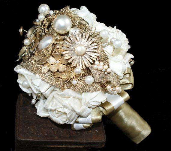Best 25 gold bouquet ideas on pinterest gold flowers for Gold flowers for wedding bouquet