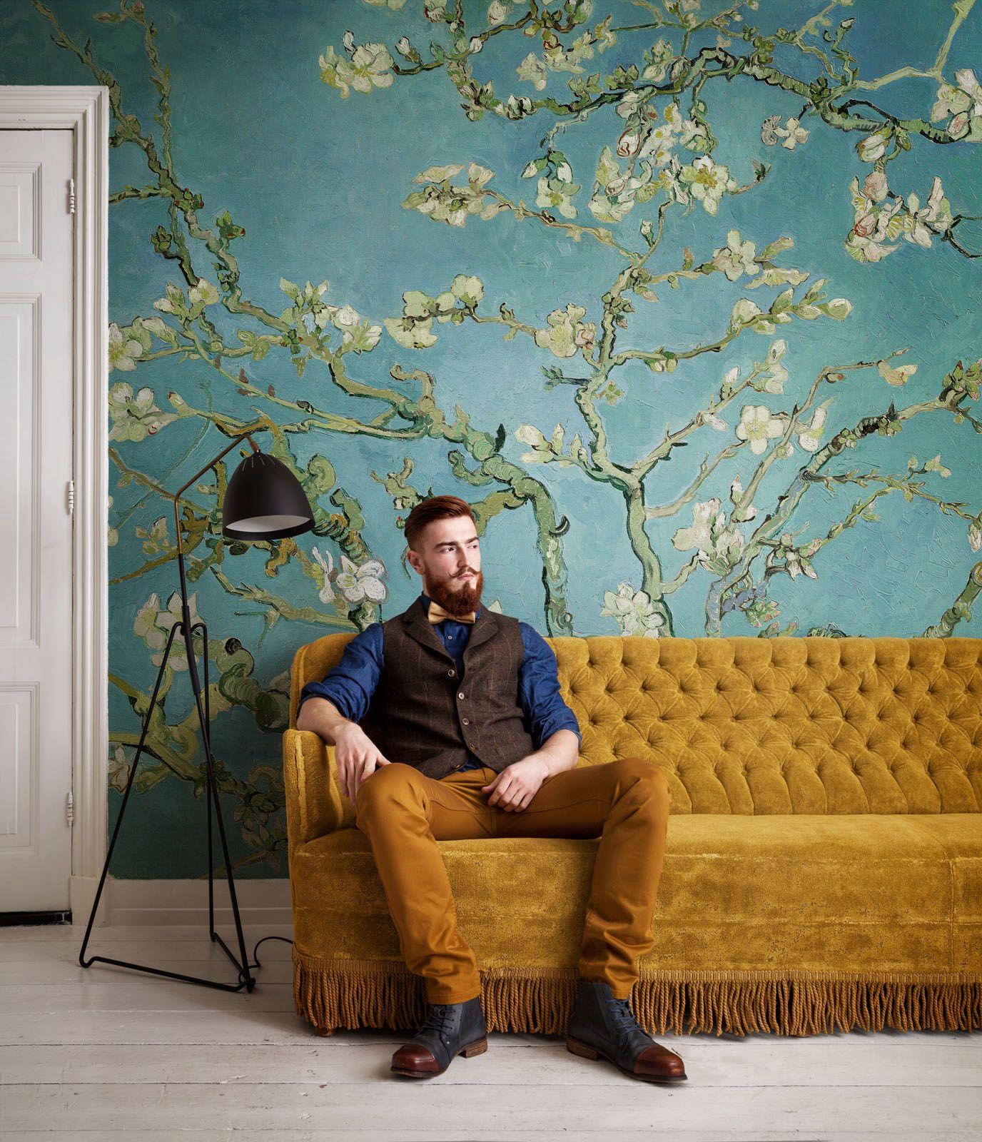 Fotobehang Amandelbloesem Wallpaper Almond Blossom