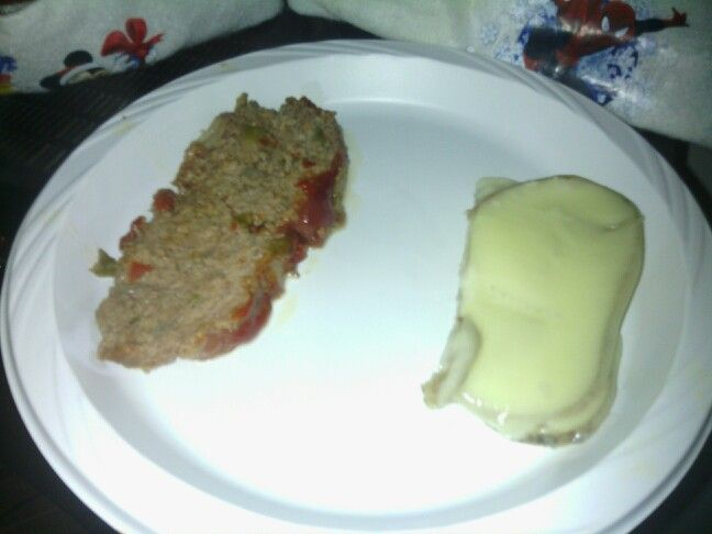 Meatloaf and potatoes (dad's recipe)