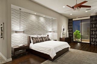 Textured Wall Tile Contemporary Bedroom Modern Bedroom Design Master Bedroom Design