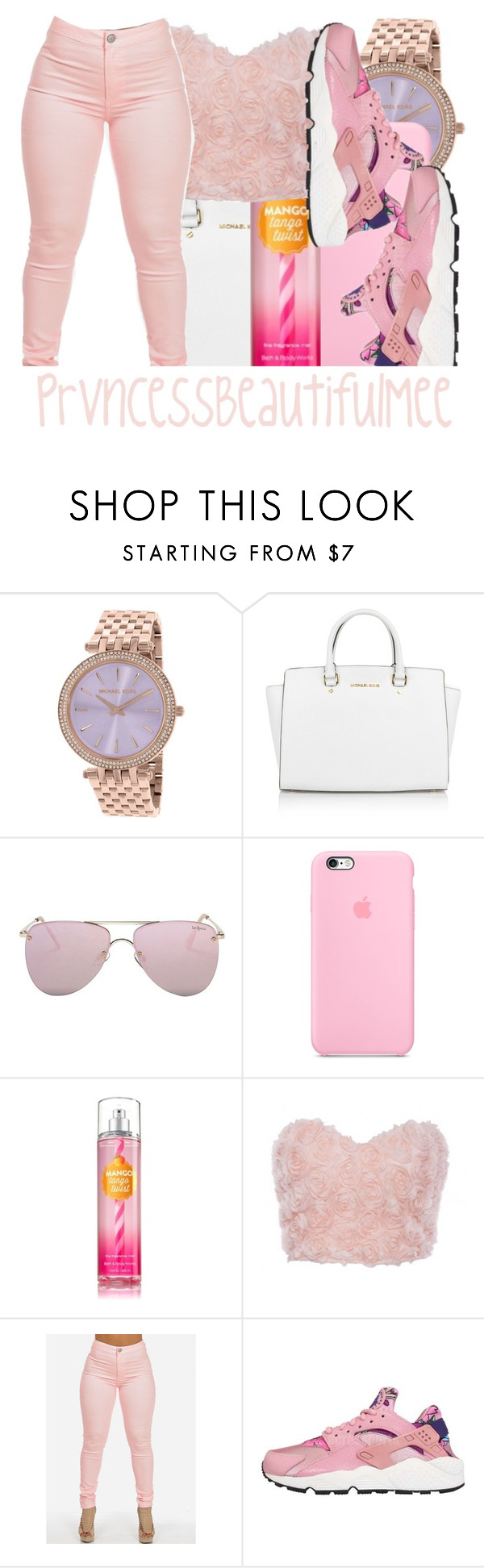 """"" by prvncessbeautifulmee on Polyvore featuring Michael Kors, Le Specs and NIKE"