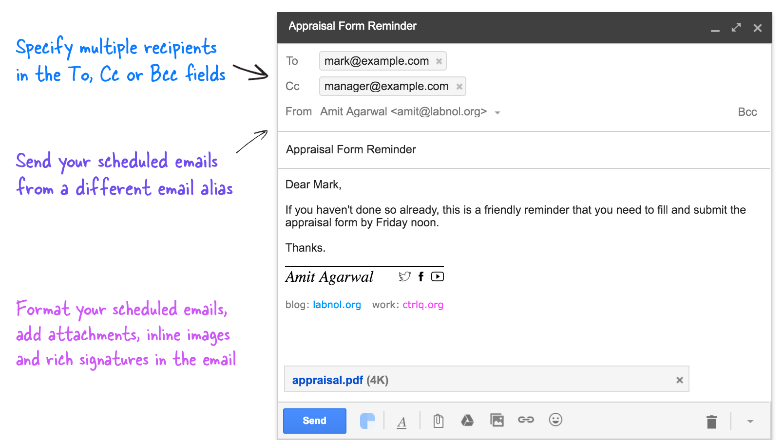 How to Schedule Email Messages in Gmail for Sending Later