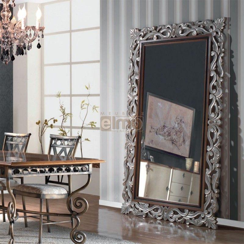 Grand Miroir Sculpté Finition Et Coloris Au Choix Valois | Miroir