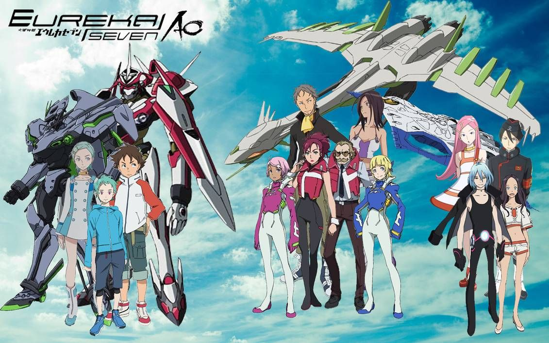 Eureka Seven Eureka Seven Ao by chalcids | Eureka, Anime, Anime shows