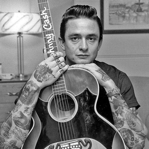 Johnny Cash With Tattoos Rockabilly Fever Johnny Cash Tattoo