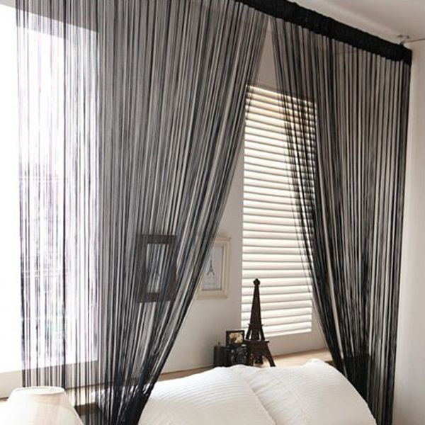 13 Colors Door Windows Panel Living Room Divider Yarn String Curtain Strip  Tassel Drape Freeshipping
