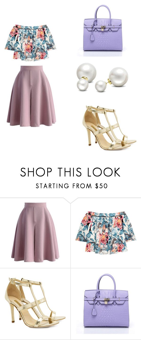 """""""Bez naslova #104"""" by anna-533 ❤ liked on Polyvore featuring Chicwish, Elizabeth and James, Dee Keller and Allurez"""