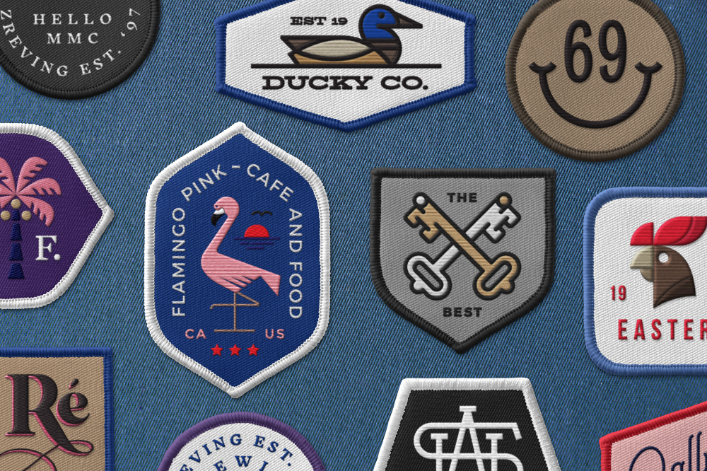 Embroidered Patch Mockup Mr Mockup Make Your Logo Embroidered Patches Logo Presentation