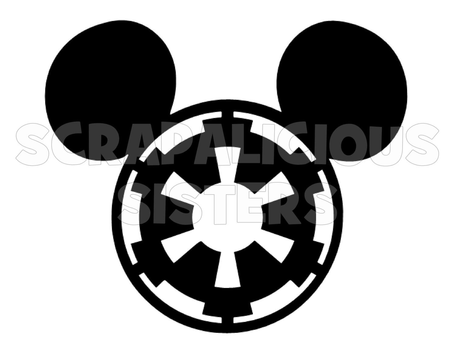 Personalized Star Wars Imperial Logo Themed Mickey Mouse Iron - Disney custom vinyl stickers