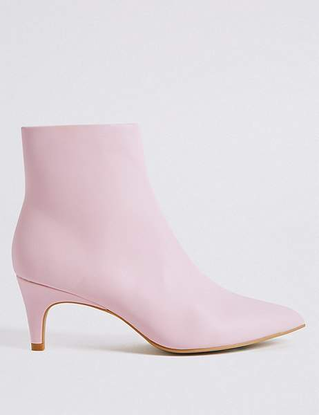1ef2e106e54b7 Marks and Spencer Kitten Heel Side Zip Ankle Boots | boots in 2019 ...