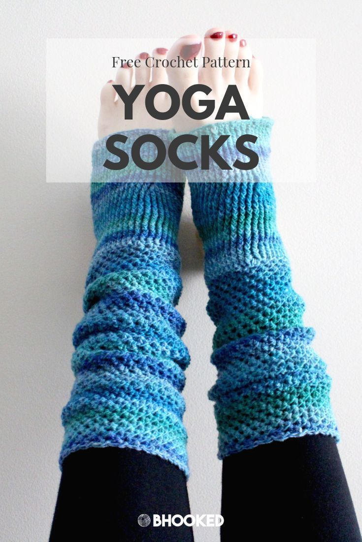 Crochet Yoga Socks - Free Pattern & Tutorial - B.hooked ...