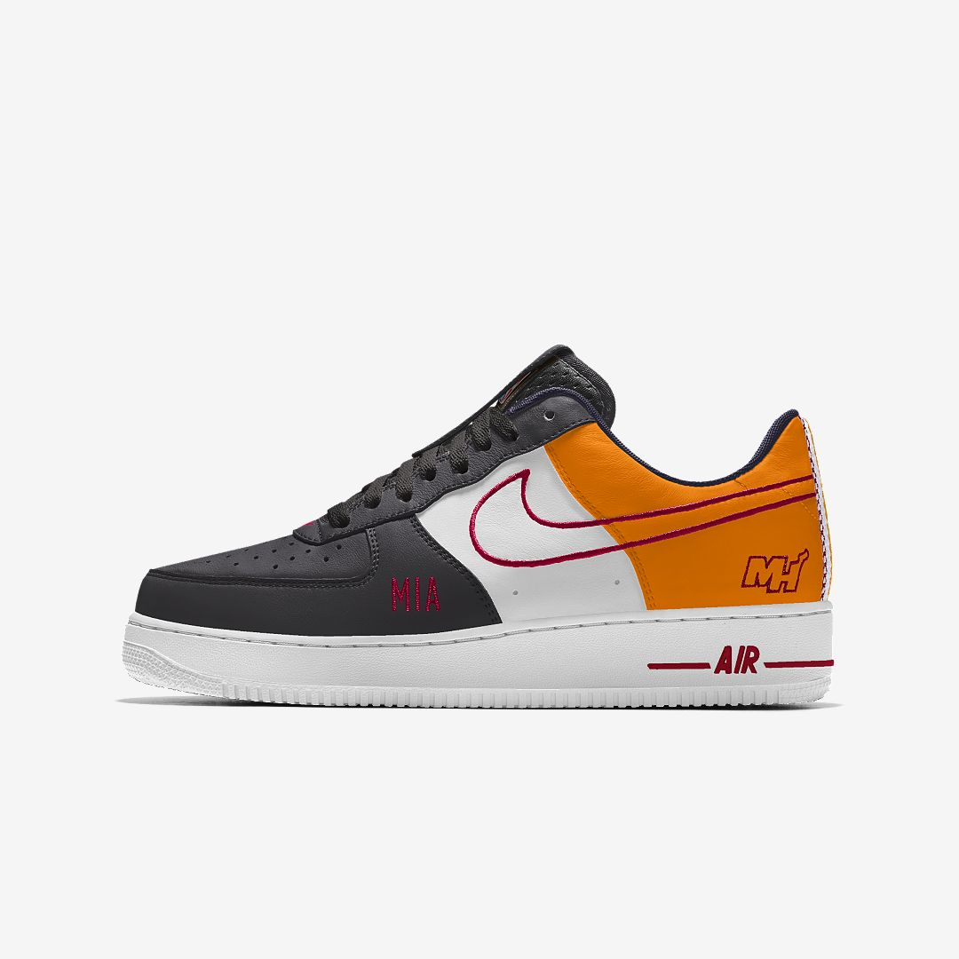 low priced 69538 24c62 Nike Air Force 1 Low Premium iD (Miami Heat) Men s Shoe Size 4 (Multi-Color)