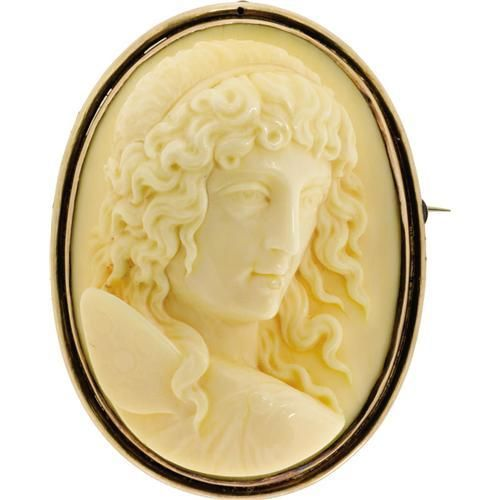 Ivory cameo plaque of Psyche.