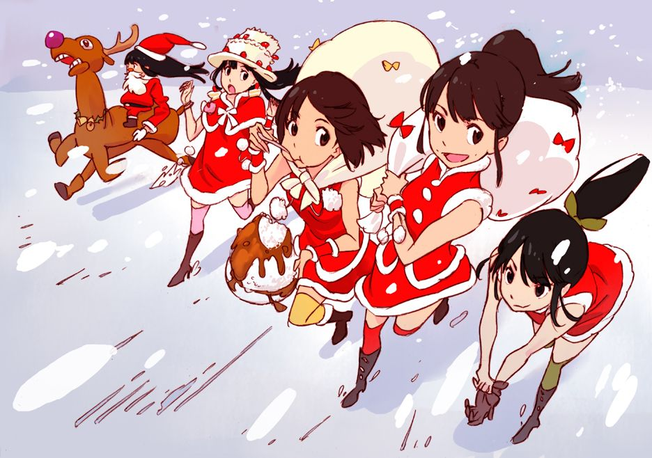 sushio momoiro clover illustration web Anime christmas