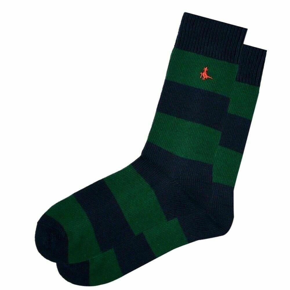 Jack Wills Mens Green Rugby Stripe Socks Uk 7 11 Striped Socks Socks Mens Green