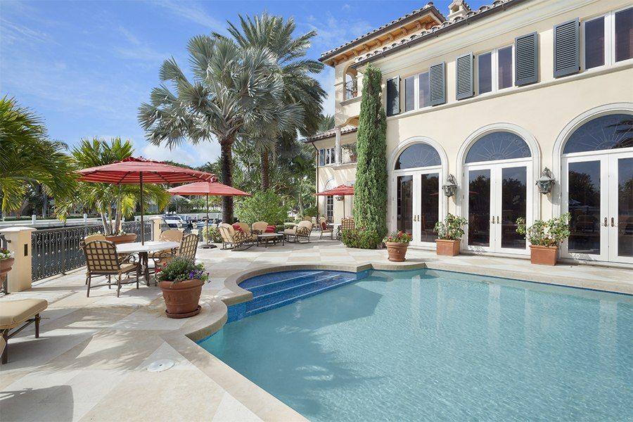 Waterfront Living in Boca Raton   Resort style pool ...