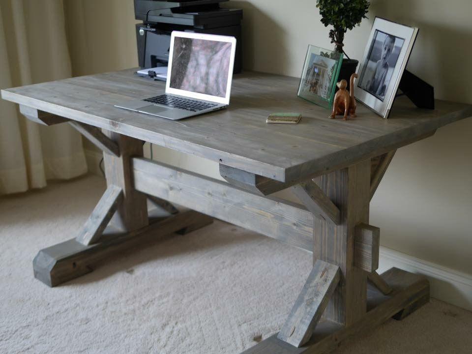 Craftsman trestle table www.twinmanordesigns.com