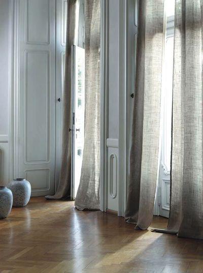 rideaux pour le salon s lection d co fabrics curtains. Black Bedroom Furniture Sets. Home Design Ideas
