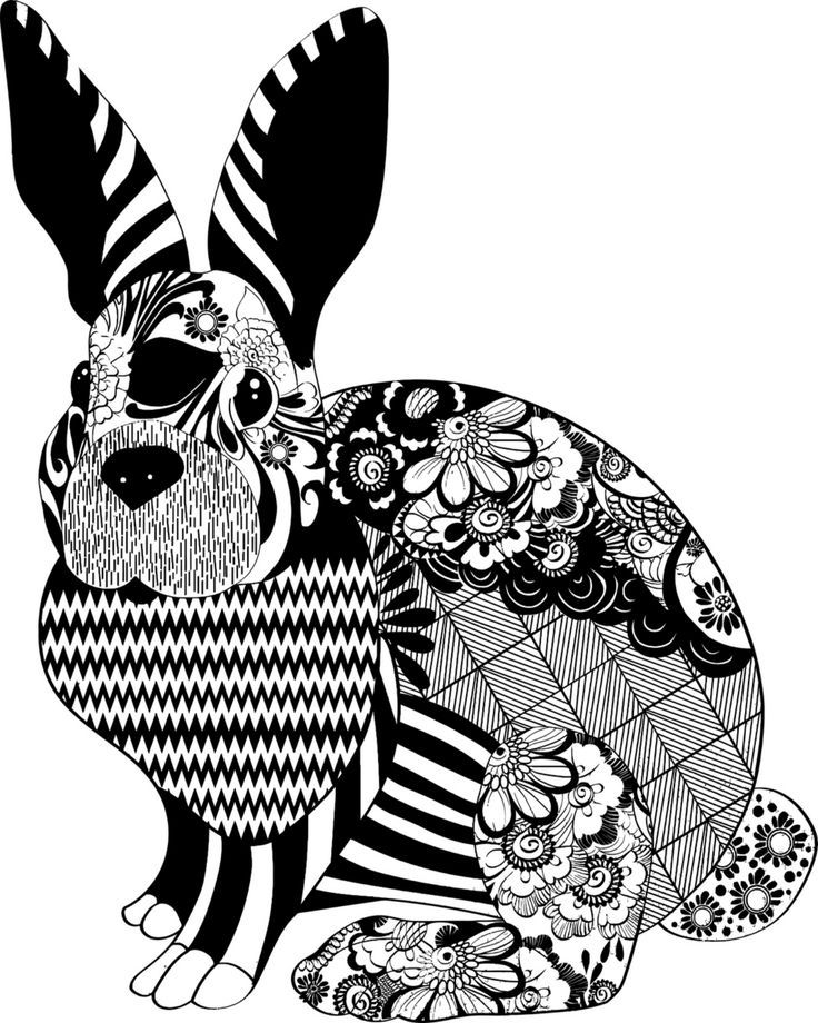 Image result for Bunny coloring pages for adults | Bunny ...