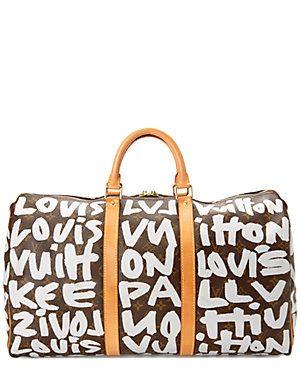 c032e3672ba Louis Vuitton Limited Edition Stephen Sprouse Graffiti Monogram Canvas Keepall  50