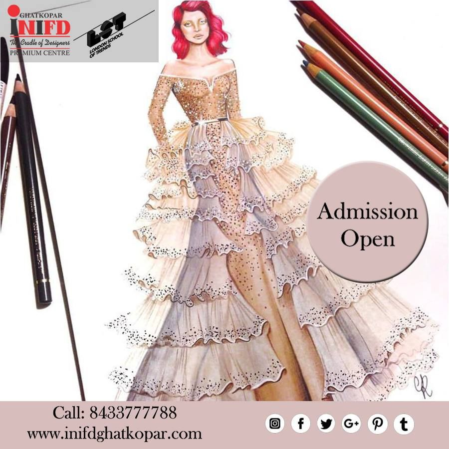 Inifd Ghatkopar Is One Of The Best And Leading Fashion Designing Interior Design Fashion Designing Colleges Digital Fashion Illustration Fashion Illustration