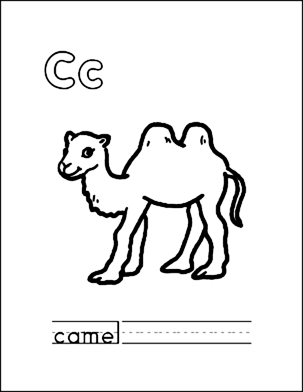 C is for Camel Coloring Page Egypt Pinterest Numbers and