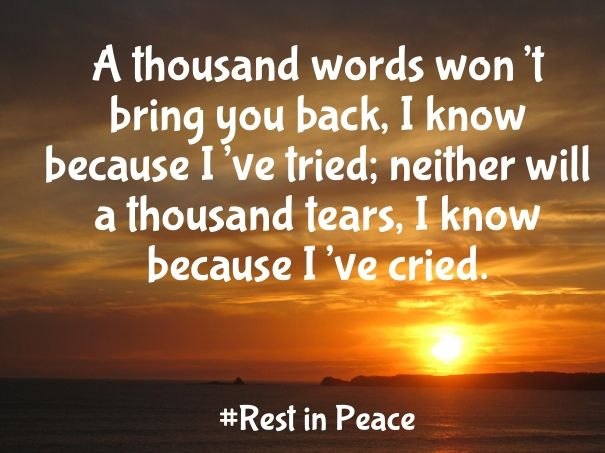 Inspirational Quotes About Death Of A Best Friend Image: Rest In Peace Quotes And Notes For A Friend