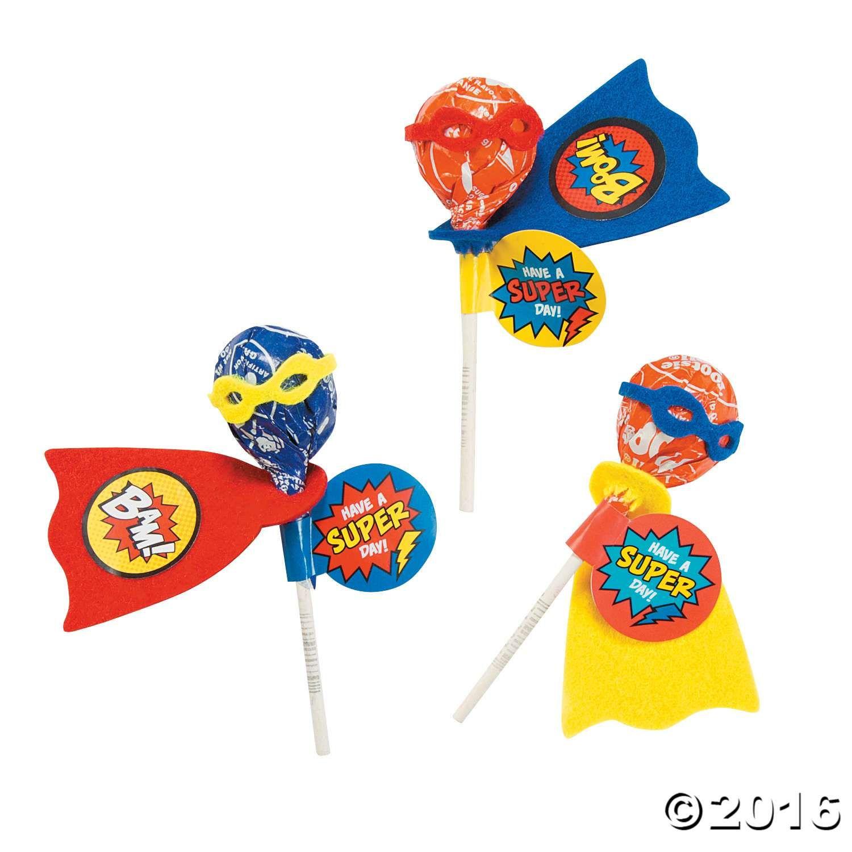 Superhero Lollipop Cape Template
