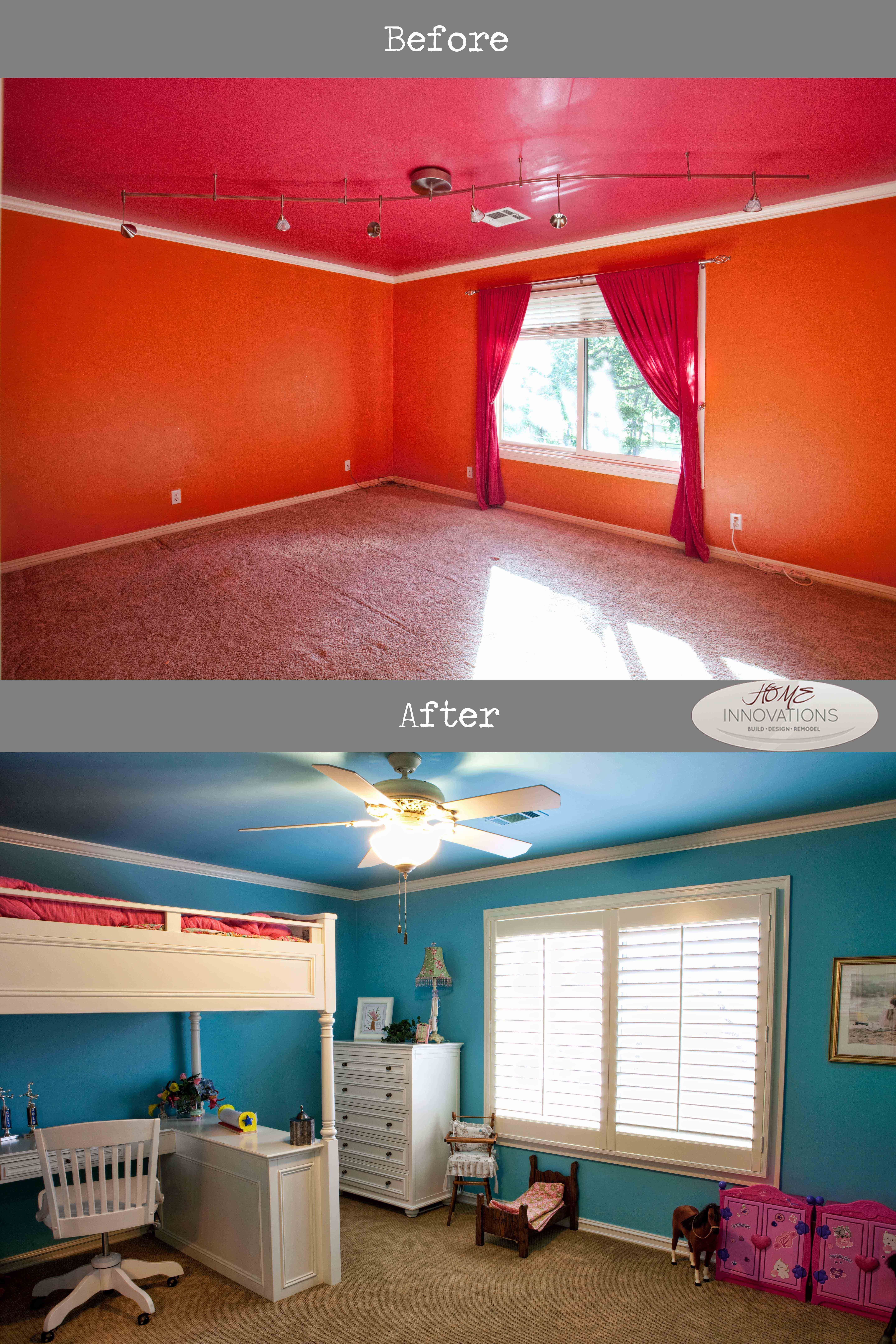 Sherwin Williams paint Bedroom, Pottery Barn loft bed with