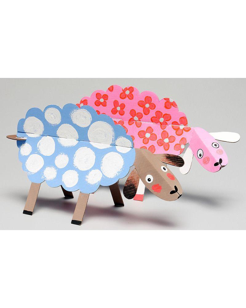 Mitik Animadulos Farm Animal Craft Set - Recycled Cardboard Paper & Cardboard