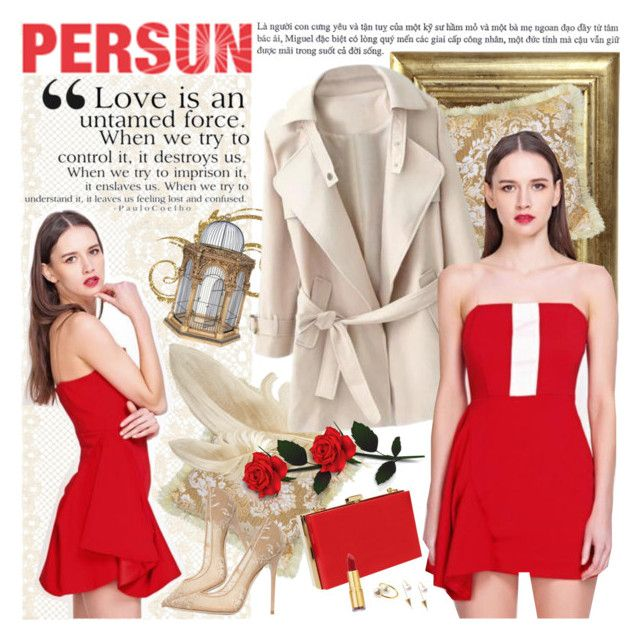 """""""PERSUN - Red is for love!"""" by anita-n ❤ liked on Polyvore featuring Niclaire, Jimmy Choo and Isaac Mizrahi"""
