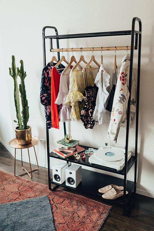 clothing rack bedroom