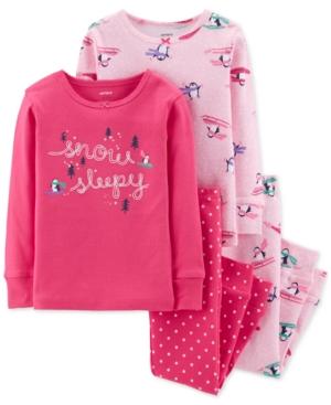 4ea99bbebf4b ... kid apparel. Carter s Baby Girls 4-Pc. Penguin-Print Cotton Pajamas -  Pink 24 months