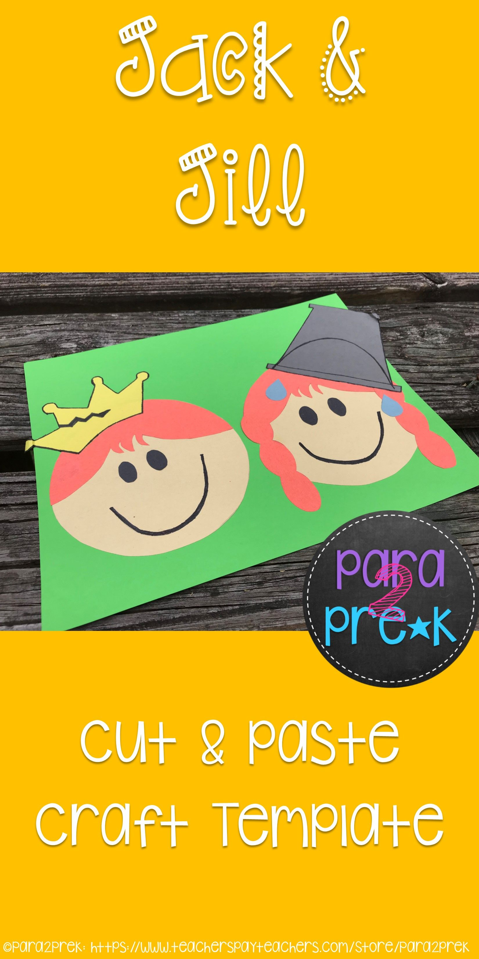 Nursery Rhymes Jack And Jill Cut And Paste Craft Template